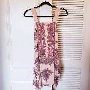 Free People floral print tunic tank top size small